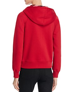 Burberry - Zip Front Hooded Sweatshirt