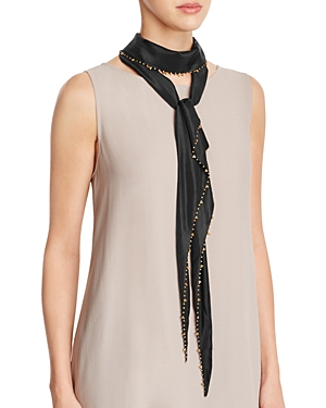 Eileen Fisher Beaded Skinny Silk Scarf at Bloomingdale's