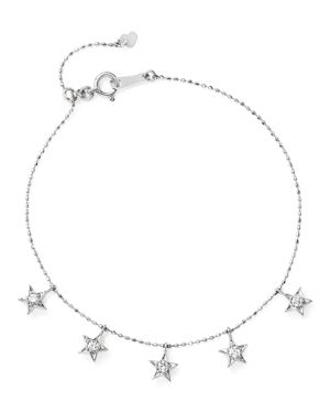 Diamond Star Charm Bracelet in 14K White Gold, .20 ct. t.w. - 100% Exclusive