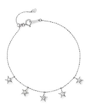 Diamond Star Charm Bracelet in 14K White Gold, .20 ct. t.w. - 100% Exclusive