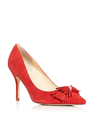 Ivanka Trump Dirent Fringe Bow Pointed Toe Pumps