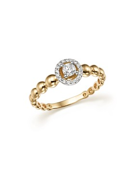 Bloomingdale's - Diamond Beaded Band in 14K White and Yellow Gold, .20 ct. t.w.- 100% Exclusive
