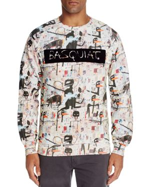 Eleven Paris Basquiat Flocked Graphic Sweatshirt