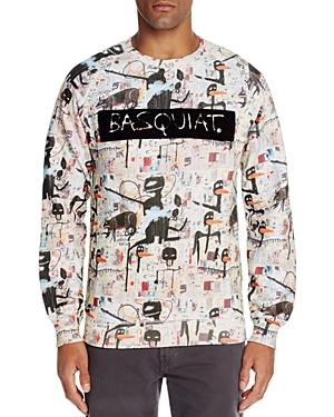 Eleven Paris Basquiat Flocked Graphic Sweatshirt