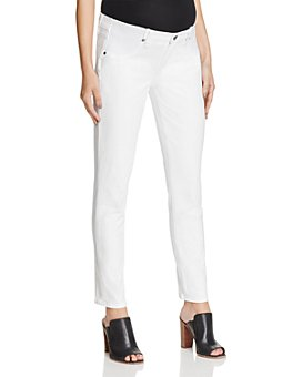 PAIGE - Skyline Skinny Ankle Maternity Jeans in Optic White