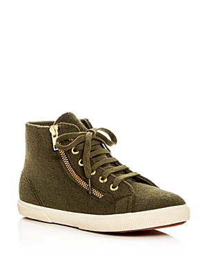 Superga Polywoolw Double Zip High Top Sneakers