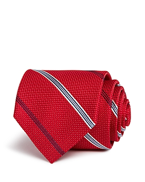 The Men's Store at Bloomingdale's Pindot Ground Broken Stripe Classic Tie - 100% Exclusive