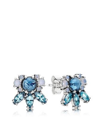 563cb3a27 Pandora Stud Earrings - Glass & Sterling Silver Patterns of Frost ...