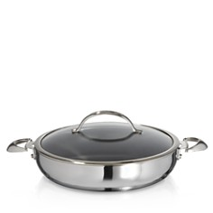 Scanpan - CTP Mirror Polished Stainless Steel 5.5-Quart Covered Chef's Pan - 100% Exclusive