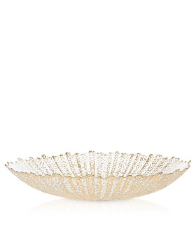 VIETRI - Rufolo Glass Gold Large Serving Bowl
