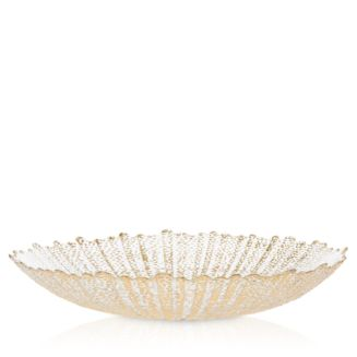 Rufolo Glass Gold Large Serving Bowl by Vietri