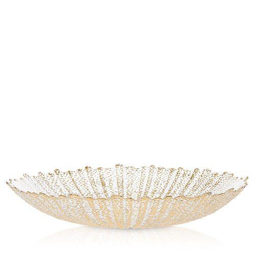 VIETRI - Rufolo Glass Gold Large Serving Bowl