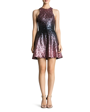 Dress the Population Andi Ombre Sequin Dress