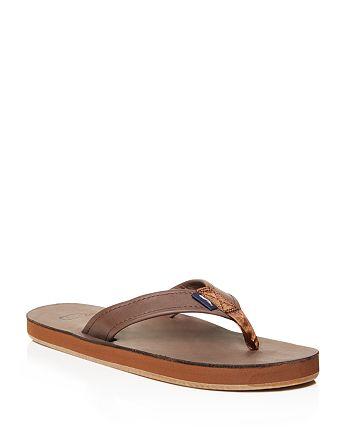 5a929ef9e92cdc Vineyard Vines - Men s Leather Flip-Flops