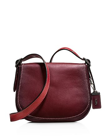 COACH - Color-Block Snake Saddle Bag 23 in Glovetanned Leather