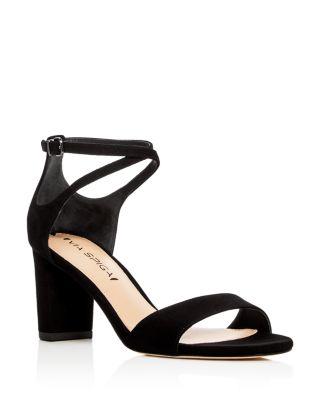 5208c9fb730 Via Spiga Wendi Crisscross Ankle Strap High Heel Sandals In Black ...