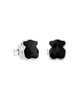 TOUS - Black Onyx Bear Stud Earrings