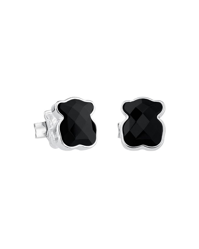 TOUS - Black Onyx Bear Stud Earrings