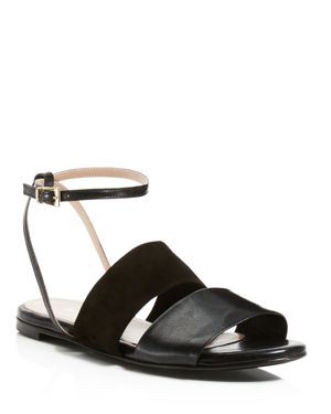 Charles David Sally Flat Ankle Strap Sandals