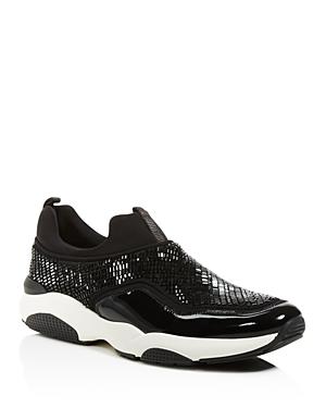Salvatore Ferragamo Crystallized Patent Leather Sneakers