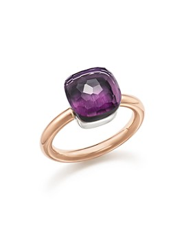 Pomellato - Nudo Classic Ring with Amethyst in 18K Rose and White Gold