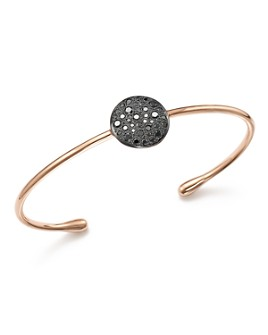 Pomellato - Sabbia Cuff Bracelet with Black Diamonds in 18K Rose Gold