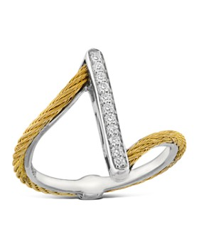 ALOR - Diamond Yellow Cable Ring