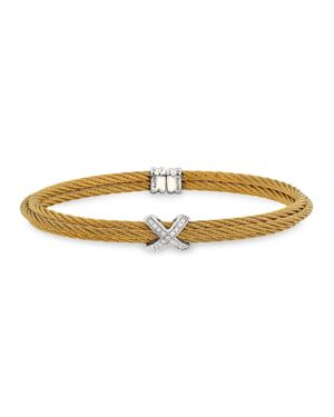 Alor Double Cable Cuff with Diamonds