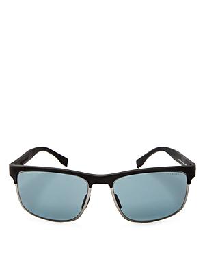 Men's Carbon Polarized Rectangle Sunglasses