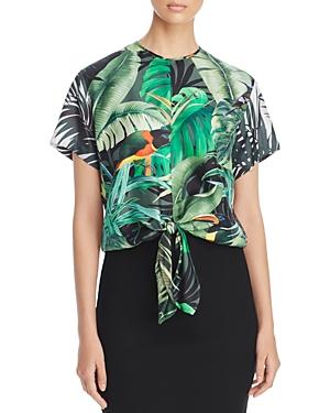 Max Mara Tropical-Print Silk Top