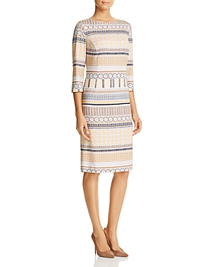 Basler Batik-Print Sheath Dress
