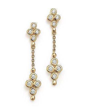 Bloomingdale's - Diamond Bezel Set Drop Earrings in 14K Yellow Gold, .25 ct. t.w.- 100% Exclusive