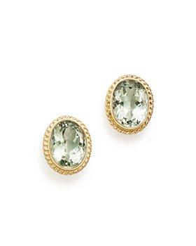 Bloomingdale's - Bezel Set Stud Earrings in 14K Yellow Gold