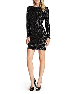 Dress the Population Lola V-Back Sequin Dress