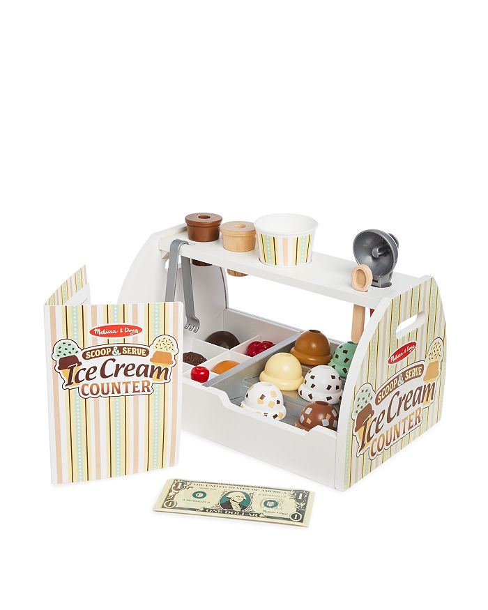 Melissa & Doug - Scoop & Serve Ice Cream Counter Play Set - Ages 3+