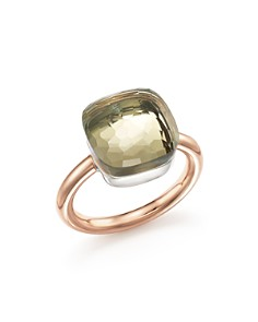 Pomellato - Nudo Maxi Gemstone & Diamond Ring in 18K White & Rose Gold