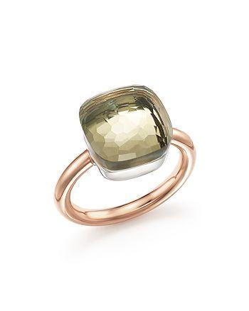 Pomellato - Nudo Maxi Ring with Prasiolite in 18K Rose and White Gold