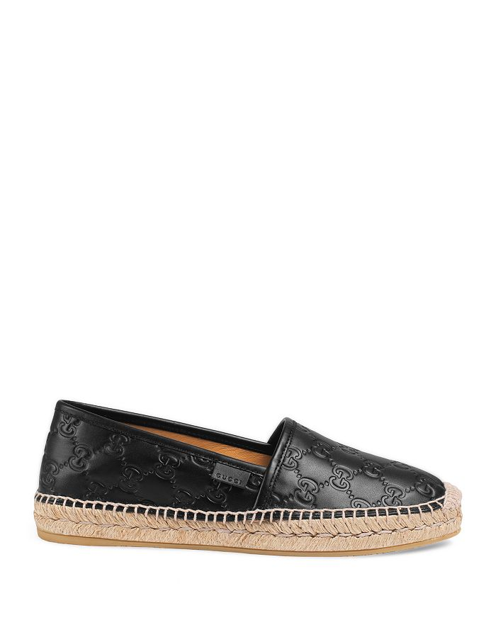 78b358d4734 Gucci - Women s Pilar Leather Espadrille Flats