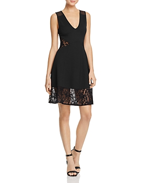French Connection Tatlin Beau Lace-Inset Dress