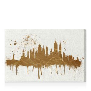 Oliver Gal Gold Ny Skyline Wall Art, 24 x 16