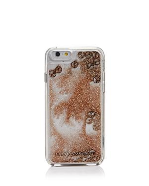 Rebecca Minkoff Liquid Glitter Peace Sign iPhone 7 Case