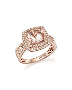 Bloomingdale's - Morganite Statement Ring with Diamonds in 14K Rose Gold- 100% Exclusive