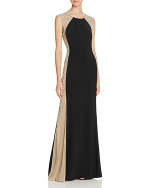 Avery G Bead-Embellished Gown