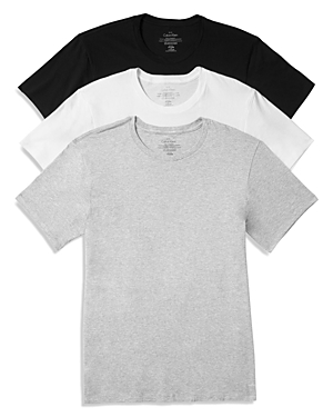 Calvin Klein Cotton Classics Crew Neck Tees, Pack of 3