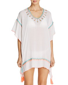 Surf Gypsy - Embroidered Poncho Swim Cover-Up