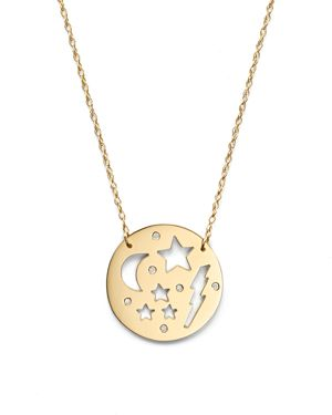 Jane Basch 14K Yellow Gold Dream Necklace with Diamond, 16