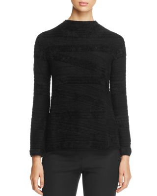 TEXTURED FUNNEL-NECK SWEATER