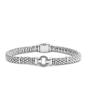 Lagos Sterling Silver Enso Caviar Open Circle Bracelet