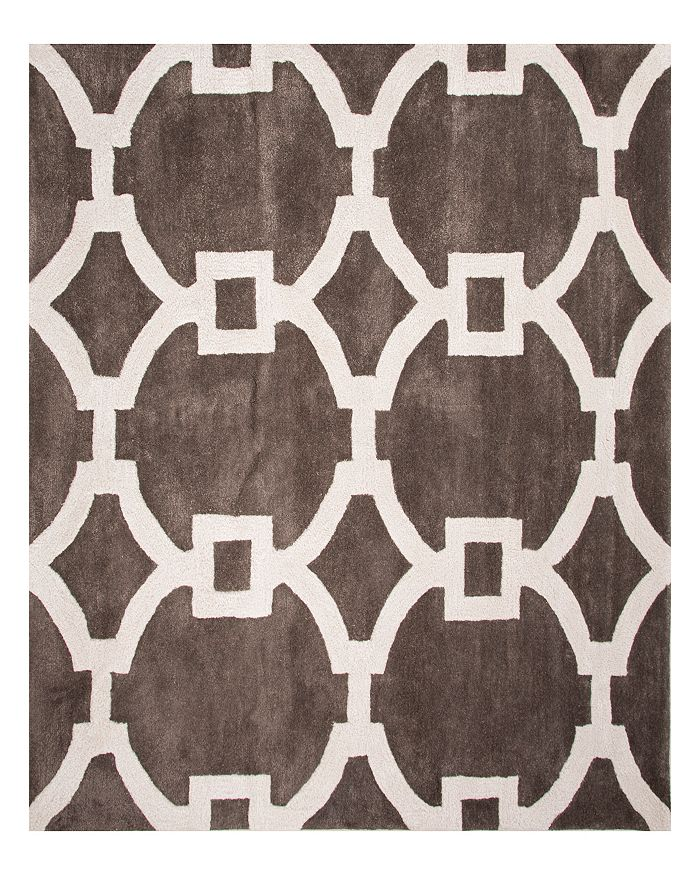 Jaipur Living Jaipur City Regency Square Area Rug, 8' X 8' In Smoked Pearl/bright White