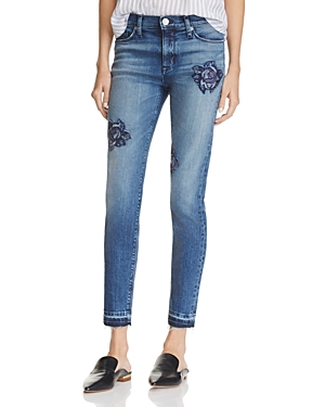 Hudson Nico Rose Embroidered Ankle Jeans in Composure - 100% Exclusive